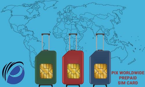 Pix worldwide prepaid SIM card